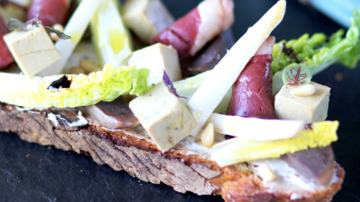 Salade Landaise version tartine